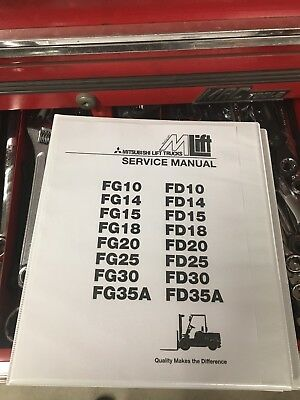 Mitsubishi Forklift Fg10 Fd10 Fg14 Fd14 Fd15 Fg15 Service Repair Manual Book