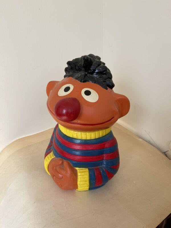 Vintage 1973 Ernie Ceramic Cookie Jar Muppets Sesame Street Jim Henson #973