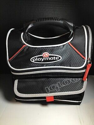 Igloo Playmate Gripper Lunch Bag Cooler Black & Red