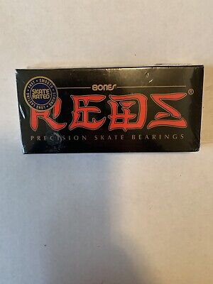 New, Sealed, Bones Reds Precision Skateboard Bearings, Set of 8