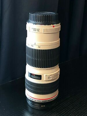 Excellent Condition Canon EF 70-200mm F/4 Telephoto Zoom Lens w/ Filter