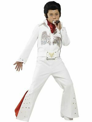 Elvis Kids Rock & Roll Star Licensed King Boys Fancy Dress Costume Party Outfit ()