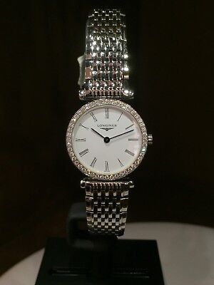 NEW Authentic LONGINES GRANDDES CLASICS L4.241.0 24MM S/S DIAMONDBEZE Box/Papers
