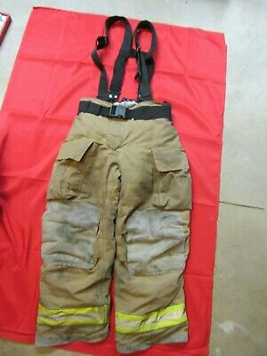 Mfg. 2011 Globe Gxtreme 36 X 30 Firefighter Turnout Bunker Pants Suspenders