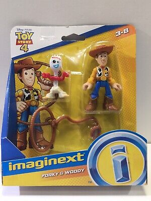 New Imaginext Toy Story 4 Forky & Woody Figure Set