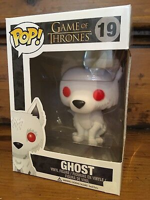 FUNKO POP! Game Of Thrones FLOCKED GHOST #19 SDCC 2014 Vinyl Figure NEW Vaulted