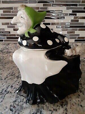 FITZ & FLOYD Polka Dot Witch Cookie Jar Vintage 1979 EXCELLENT condition