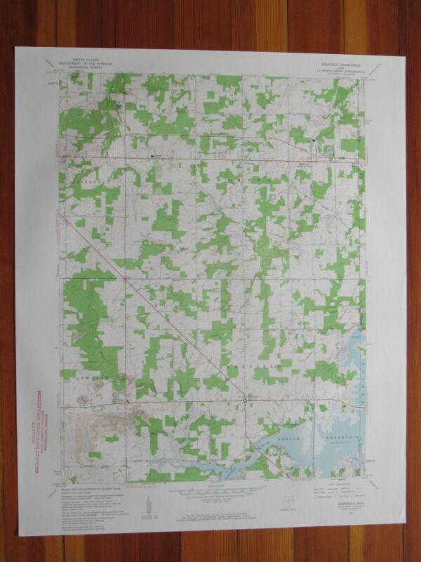 Deerfield Ohio 1961 Original Vintage USGS Topo Map