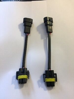H11 H9 H8    BULB Connector to 9006/HB4 Conversion Pigtail Harness plug &play