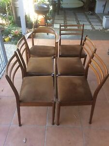 Retro dining chairs, G plan, mid century, Eames era,Swedish design Caboolture Caboolture Area Preview