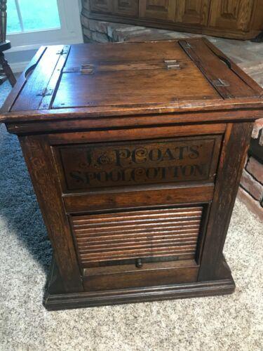 J & P Coats spool cotton cabinet