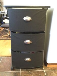 Black 3 drawers organizer available &15