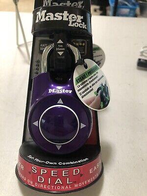 Master Lock Speed Dial Purple Lock