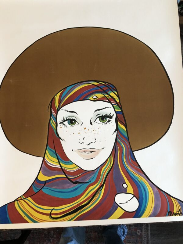 """Marijke Koger Poster 1970's 23""""x29"""".(on thick stock)VG+. My Lowest Price !"""