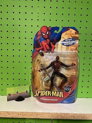 Hasbro Spider-Man McFarlane Dark Red Blue Action Figure with Street Light