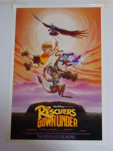 Disney RESCUERS DOWN UNDER Original THEATER-USED Movie Poster 27x41  #