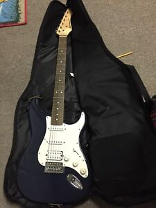 Barracuda Electric guitar with case & amp