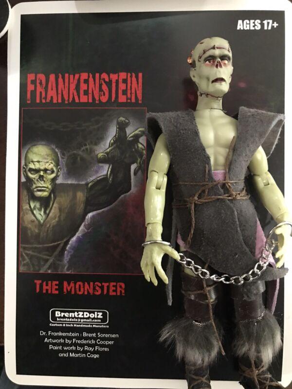 "Frankenstein Monster - Hand Made 8"" Figures BrentzDolz-MoC Arm Chains  Ltd Ed"