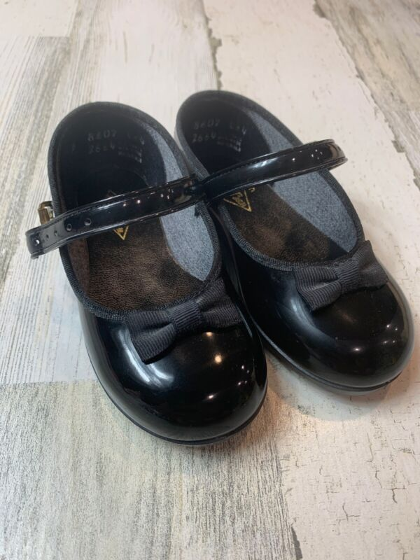 VINTAGE Wee Walker Mary Jane Black Patent TODDLER GIRLS SHOES SZ 5 Made In USA