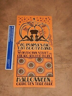 HALLOWEEN 2010 YO MAMA'S BIG FAT BOOTY BAND CONCERT POSTER, SIGNED BY THE BAND