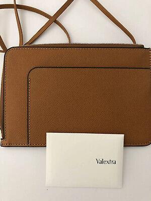 Valextra East West Cross Body Bag Brown