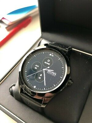 Boss Smartwatch - Black with Leather wristband