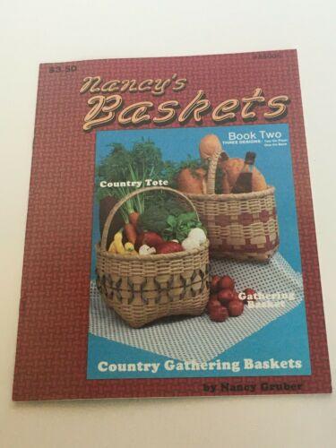 Baskets Basketry Weaving Patterns Booklets Nancy Gruber Decorative Paint Vintage