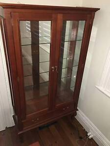 Tasmanian Oak Glass Display Cabinet 1040w X 370d x 1870h Mosman Mosman Area Preview