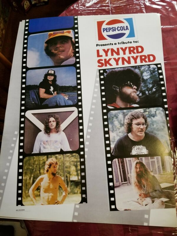 LYNYRD SKYNYRD PEPSI TRIBUTE POSTER 1978