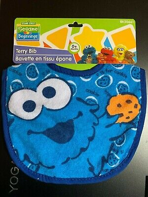SESAME STREET TERRY BABY BIB 5 STYLES TO CHOOSE FROM NWT INFANT FEEDING