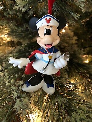 Disney World Minnie Mouse Dressed As Nurse Christmas  Tree Ornament New ()