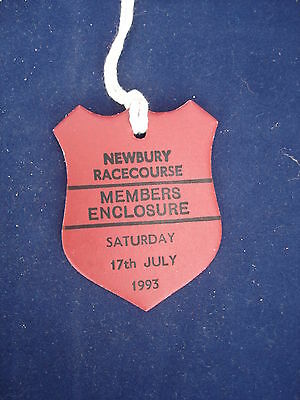 1 - Horse racing - Card Badge - Newbury - Members - 17th July 1993