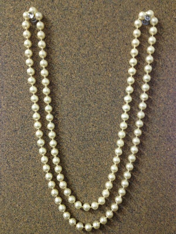 """Faux Pearl Necklace 46"""" - 4 dozen"""