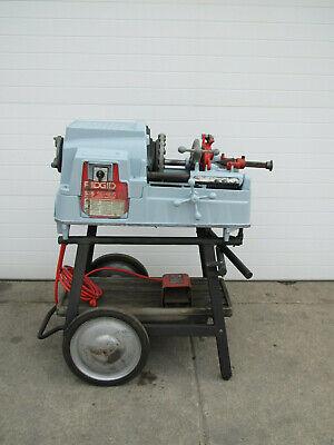 Ridgid 535 V3 Manual Chuck Pipe Threader Threading Machine W Cart Used