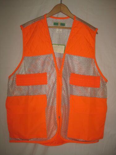 Game Winner Lightweight Blaze Orange Pheasant Hunting Vest L Upland Grouse NEW