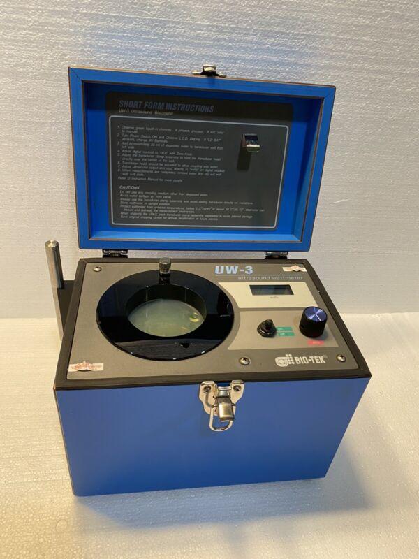 Bio-Tek BioTek UW-3 Ultrasound Wattmeter Biomedical Testing Unit