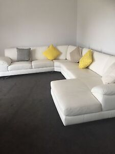 Leather lounge with Chaise Coonamble Coonamble Area Preview