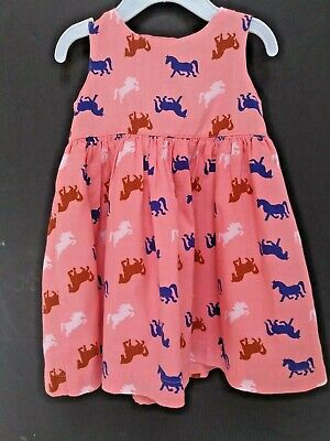 Carters Sleeveless Pink Horse Themed Sundress Toddler Girl's 9 Months - Toddler Party Themes