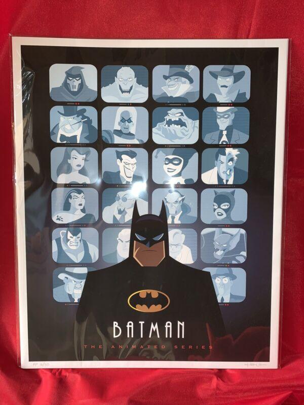 Batman The Animated Series Print Artist Proof AP #16/20 Signed Jerrod Maruyama