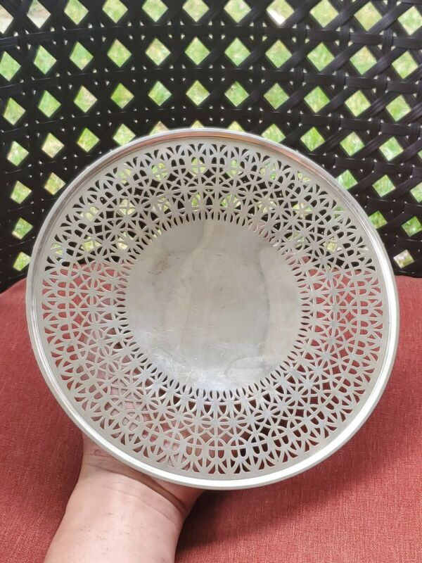 VINTAGE STERLING SILVER ASH TRAY/DISH FOR SCRAP OR USE 196 GRAMS E2