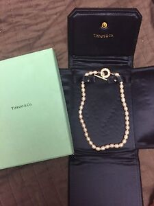 Tiffany Freshwater pearls with silver toggle