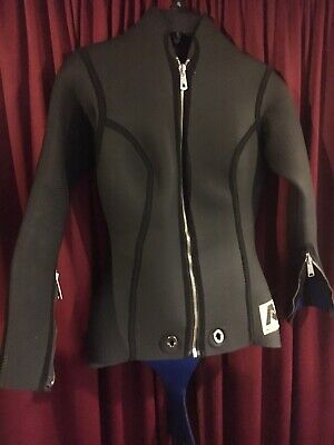 Vintage Aquanetic Wet Suit Surf Scuba Snorkeling Water Beach Two Piece Large