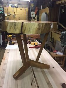 Spalted slab end table / side table