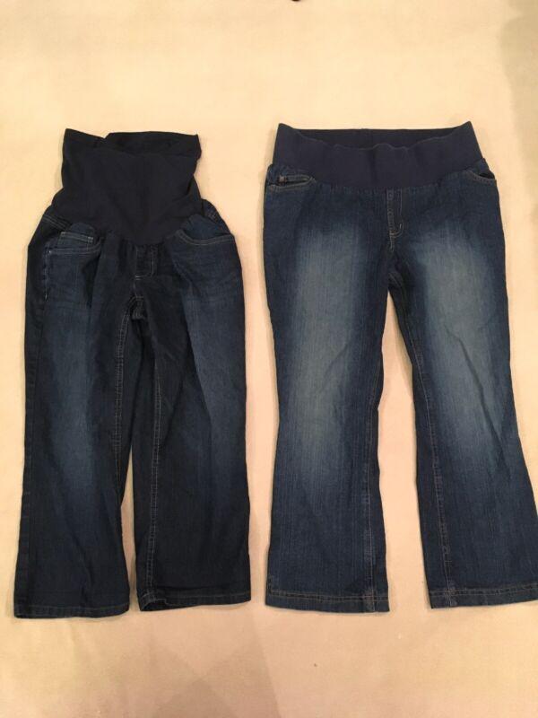 Liz Lange Maternity 6 Jeans Oh Baby Medium Pregnancy Lot