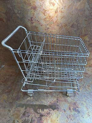 Mini Chrome Shopping Cart Metal Basket Planter Display
