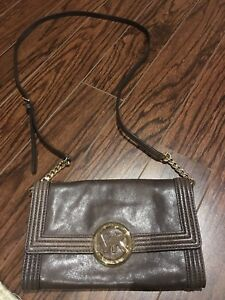 Michael kors brown crossover bag