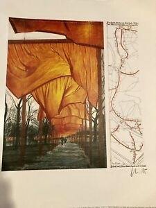 Christo Javacheff Project For The Gates- IV Offset Lithograph