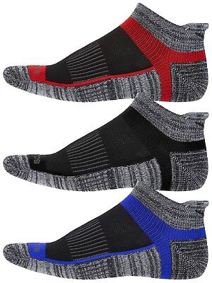 Saucony Mens Inferno No Show 3-Pack Running/Athletic Socks-Heather Gray