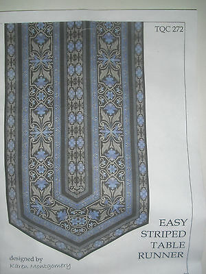 Easy Striped Table Runner (Easy Striped Table Runner Quilt FABRIC KIT w/Avlyn's Opulent Paisley )