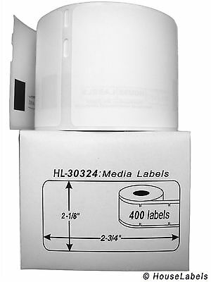 1 Roll Of 400 Mediabadge Labels In Cartons For Dymo Labelwriters 30324